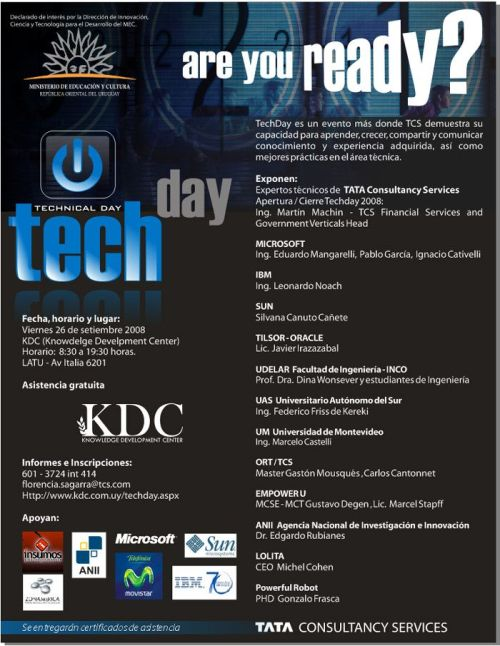 Afiche TechDay TCS